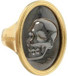Alexander McQueen Necklace | Alexander McQueen - 301705J160Z 8080 (Antique Gold) - Jewelry Sold Out ...