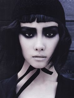 Ji-Young Kwak in 'Magical Black' photographed by Francois Nars for Vogue Korea July 2013