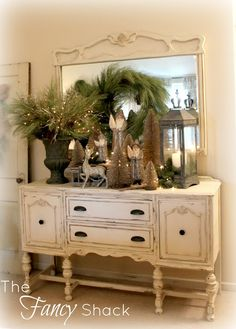 As lovely as all the other vignettes for this 12/12 Christmas look—The Fancy Shack.