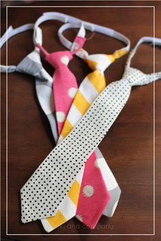 Handmade ties with a free template! These look cute and easy to make!  Just made these at super Saturday and they were super easy!