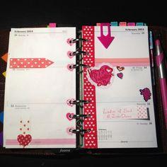 My filofax - week 7 ... Valentines Day!!