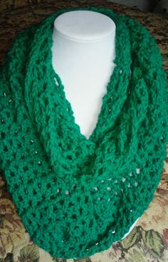 Check out this item in my Etsy shop https://www.etsy.com/listing/253080416/emerald-green-infinity-scarf-perfect-for