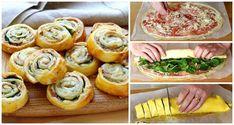 Der Klassiker fürs Partybuffet: Blätterteigschnecken mit Käse und Schinken