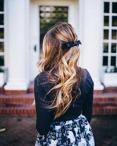 "Julia Engel (Gal Meets Glam) on Instagram: ""Romantic details on galmeetsglam.com today (link in profile) #bows #hairstyles #anthropologie #ontheblog #sanfrancisco #longhair"""