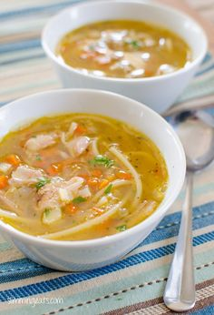 Chicken Noodle Soup - Dairy Free, Slimming World and Weight Watchers friendly