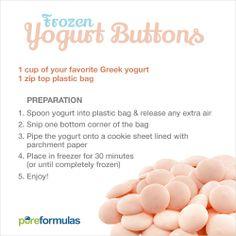 Frozen Greek Yogurt Buttons