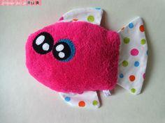 Doudou monstre kawaii Poisson rose : Jeux, jouets par l-atelier-de-ge
