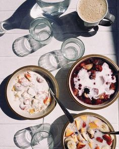 Morning routine: wake up, go for a swim, breakfast in the sun. #holidays ☕️