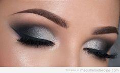 Tutoriales paso a paso para aprender a hacer maquillajes de Ojos para Fiesta en distintos colores con purpurina y efecto ahumado.
