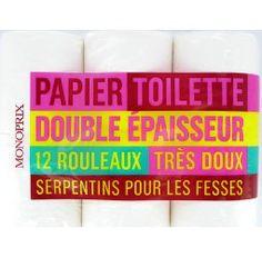 Monoprix  Papier toilette blanc double épaisseur très doux  Le paquet de 12 rouleaux
