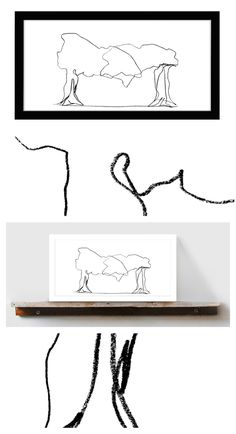 Abstract Lines, Abstract Art, Pencil Trees, Framed Art, Framed Prints, Zen Art, Canvas Paper, Bedroom Art, Modern Wall Art