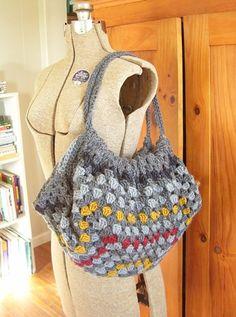 Cute crochet beach bag