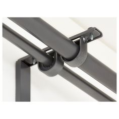 IKEA - BETYDLIG, Curtain rod holder, silver color, You can mount it in BETYDLIG wall/celling bracket to create a bracket for double rod. Two anti-slip liners - the thick liner fits RÄCKA curtain rod and the thin liner HUGAD curtain rod. Layered Curtains, Double Rod Curtains, Ikea, Modern Curtain Rods, Consoles, Curtain Rod Holders, Balcony Doors, Closet Rod, Support Mural