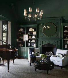 Wall Colors, Paint Colors, Ring Chandelier, Lee Industries, Piano Room, Circa Lighting, Love Design, Lighting Design, Canopy