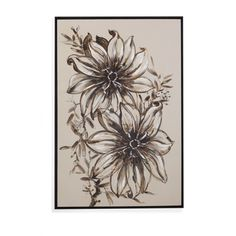 Floral Sketch Painting Print on Canvas