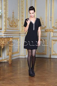 Robe manche courte milano encolure métal Nana Baila sur cpourl.fr #cpourl Glamour, Shirt Dress, T Shirt, Dresses, Fashion, Fashion Ideas, Trendy Outfits, Dress Skirt, Neckline