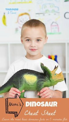 Mom's Dinosaur Cheat Sheet - My boys want to talk about nothing but dinosaurs. Here is just enough information to keep me from looking clueless during those conversations. @toulousentonic | raising boys | humor | dinosaur facts | kid activities | books