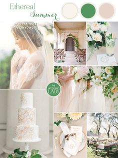 Ethereal Neutral Wedding Ideas for Summer in Ivory and Gold with Classic Monogram and Laurel Wreath Details