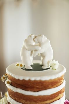 dancing bear cake toppers // photo by Feather & Twine