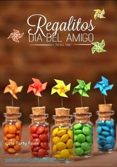 Party Pretty: Creative Rainbow party favor