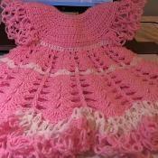 Crochet Shells &Solomon Knot baby dress - via @Craftsy