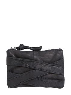 LEATHER PURSE, Black