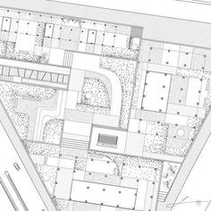 Garden and towers plan by architect Fernando Herrera