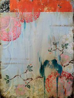 Modern chinoiserie painting by Kathe Fraga Kunstjournal Inspiration, Art Journal Inspiration, Painting Inspiration, Art And Illustration, Illustrations, Fleurs Art Nouveau, Collage Kunst, Art Abstrait, Claude Monet