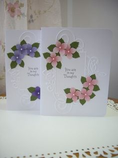 handmade sympathy card purple sympathy card by JDooreCreations