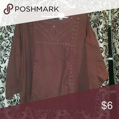 Old Navy Burgandy top Loose fit, Worn 1x Old Navy Tops Blouses