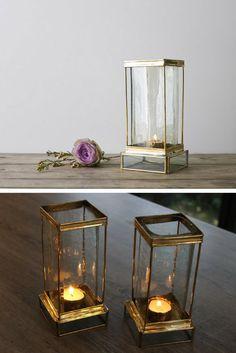 Pretty brass lantern #candleholder #lantern #brass #metalandglass #glass #recycled #commissionlink