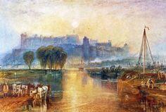 William Turner - Windsor Castle (watercolor on paper, c.1828)