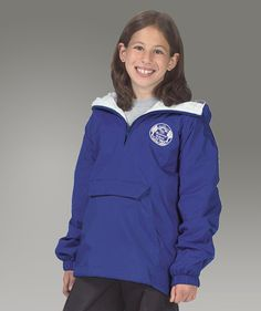 Youth Charles River Classic Pullover Jacket Monogrammed with a name or 3 letter monogram by sewwonderfullymade4u. Explore more products on http://sewwonderfullymade4u.etsy.com