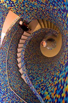 Groninger Museum staircase (by iharsten) Groningen, NL