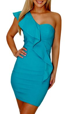Catch My Eye (Turquoise)-Great Glam is the web's best online shop for trendy club styles, fashionable party dresses and dress wear, super hot clubbing clothing, stylish going out shirts, partying clothes, super cute and sexy club fashions, halter and tube