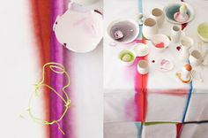 Dyed tablecloth — concept realisation and styling : dietlind wolf  |  photo : julia hoersch  |  in print : schoener wohnen issue 4/2012