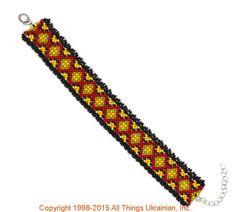 AllThingsUkrainian.com gherdany Bead Jewelry  # GIBN15132