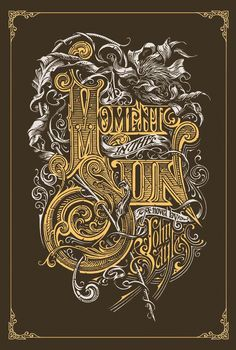 Hats off to Aaron Horkey for his intricately gilded masterpiece of a cover on John Sayles' Moment in the Sun. If you want to make yourself sick with further adoration, check out Horkey's movie posters.