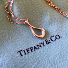 Tiffany & Co. Elsa Peretti open teardrop necklace Authentic retired Elsa Peretti Tiffany and Co 925 silver necklace is a rarity as well as a delicate beauty. Lovingly cared for, rarely worn, and always stored in its Tiffany & Co pouch. Tiffany & Co. Jewelry Necklaces