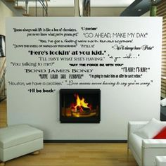 Classic Movie Quotes decals - vinyl lettering home decor stickers would be great in a home theater