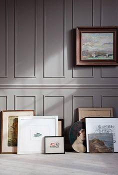 paneling + gray + art