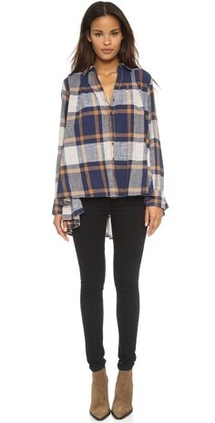 Free People Peppy in Plaid Button Down | SHOPBOP