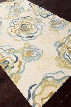 Floral Pattern Indoor/Outdoor Rug - Antique White  by Coastal Living Rugs on @HauteLook 5 x 8 $220