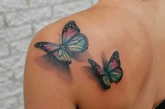 Definitely possible option for some of my next tattoos front shoulder tattoos, butterfly tattoo on Realistic Butterfly Tattoo, Colorful Butterfly Tattoo, Butterfly Tattoo On Shoulder, Butterfly Tattoos For Women, Butterfly Tattoo Designs, Cross Shoulder Tattoos, Colorful Tattoos, Monarch Butterfly, Neue Tattoos