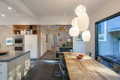Professors-Row-Renovation-Aamodt-Plumb-Architects | George Nelson Bubble Lamps