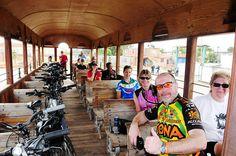 Group and bikes - Sugar Cane Train - near Trinidad