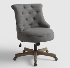 A Comfortable Upholstered Chair for My Home Office!