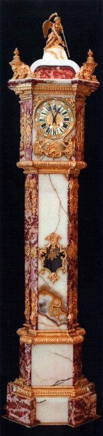 Napoleon III Gilt Bronze Mounted Onyx & Marble Clock, 1 : Lot 182