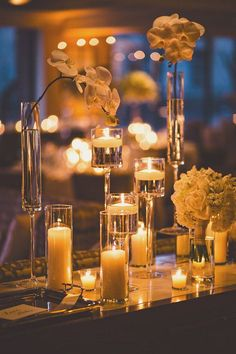 280 best Floating Candle Centerpieces images on Pinterest ...