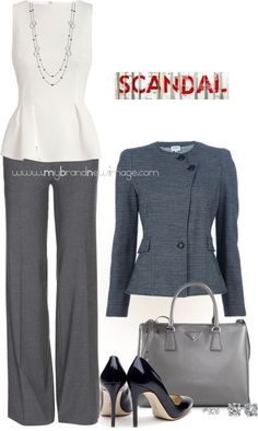 No. 926 - Scandal Fashion - Channeling Olivia Pope (If only I could wear the heels!)